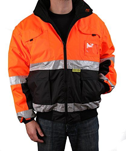 Safety Depot Two Tone Orange Black Reflective Ansi Class 3 Safety Bomber Jacket Rain Resistant Reversible Two Piece With Zipper and Pockets 330c-3 (Small) http://www.safetygearhq.com/product/uncategorized/safety-depot-two-tone-orange-black-reflective-ansi-class-3-safety-bomber-jacket-rain-resistant-reversible-two-piece-with-zipper-and-pockets-330c-3-small/