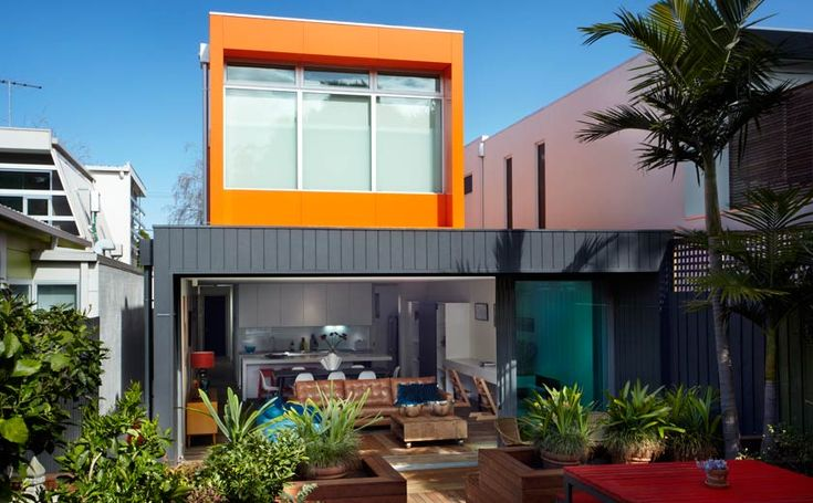 Modscape. Elsternwick a perfect fit for its slim suburban site, this striking family home combines a bold exterior with clean contemporary internal finishes to maximise both aesthetics and functionality.