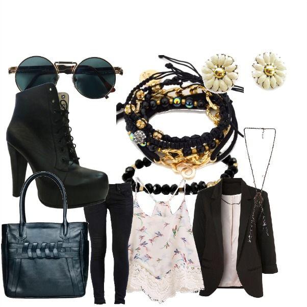 Outfit fashion black  ConcursoInstafit    en Colombia