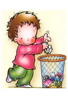 Educació Infantil Brimar: NORMES : Tirem els papers a la paerera