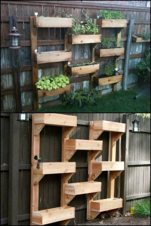 Go vertical with your greenery! This planter saves garden space and is efficient in watering plants :)