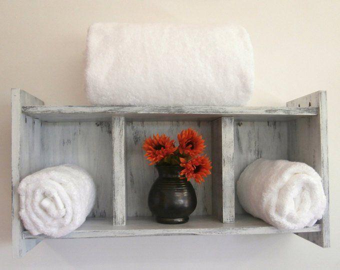 Coastal Decor Above the Toilet Bathroom Shelves-3 Shelf | Etsy – Bathroom Shelve…  – most beautiful shelves