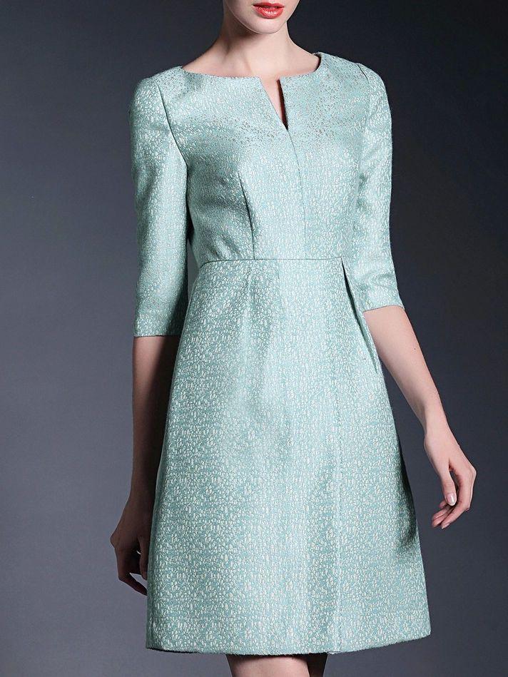 Elegant Jacquard #Mini #Dress #stylewe