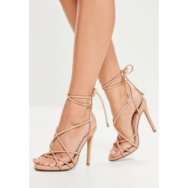Missguided Rounded Strap Gladiator Heeled Sandals ($24) ❤ liked on Polyvore featuring shoes, sandals, nude high heel shoes, gladiator heel sandals, nude strappy shoes, strappy sandals and strappy gladiator sandals