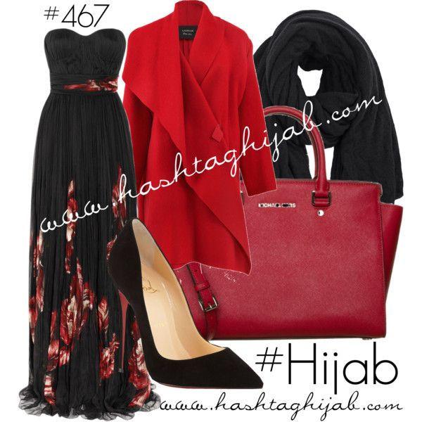 Hashtag Hijab Outfit #467 by hashtaghijab on Polyvore featuring Alexander McQueen, Lanvin, Christian Louboutin, MICHAEL Michael Kors, Pin1876 and hijab