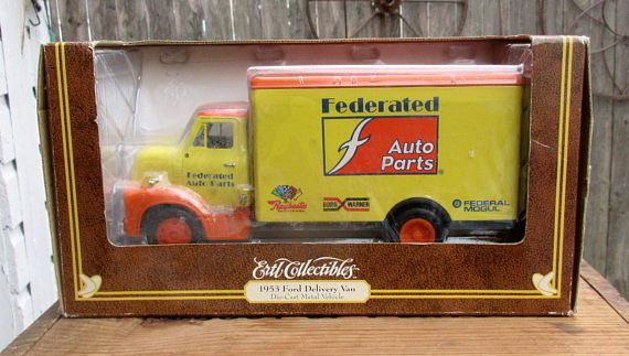 Offering for sale is this Ertl Collectibles Federated Auto Parts 1953 Ford Delivery Van and it comes in its unopened 1995 boxing. I believe this model die cast truck is 1/16 scale and card board boxing shows some edge fraying. What you see is what you're going to get so don't forget to