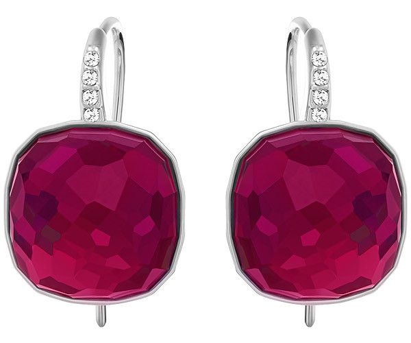 This pair of rhodium-plated earrings is ideal for adding a seductive sparkle to any outfit, from leisure to work wear. Crafted in red crystal, it... Shop now