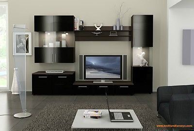 "WALL UNIT FIGARO MODULAR SYSTEM BY ACE DECORE 120"" TV STAND ENTERTAINMENT CENTER"