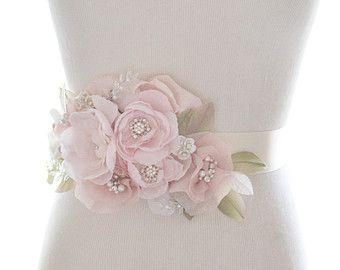 Battente fiore cristallo capriccioso, nuziale cintura, cintura strass organza sash nozze strass