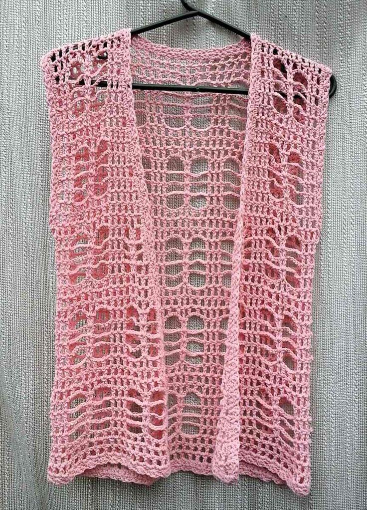 Chaleco Calado Tejido A Crochet. Verano. Playa. - $ 320,00 en MercadoLibre