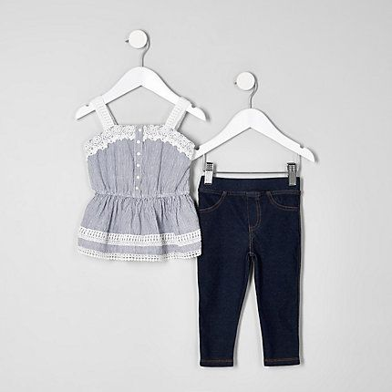 Mini girls blue cami and leggings outfit €26.00