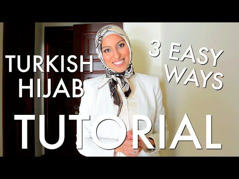 Beautiful Turkish Hijab Style 3 Ways Tutorial - Haute Hijab - YouTube