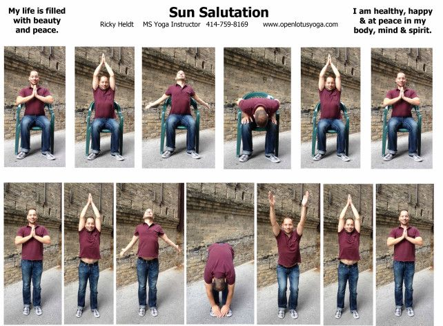 Sun Salutation Handout Seated Sun Salutation Pinterest