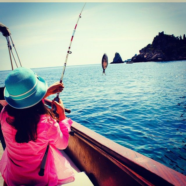 Summertime and the livin' is easy. Get in the spirit of summer on our Isola Bella fishing trip...perfect for the whole family! #isolabellafishing #experiencetaormina #sicilylifestyle #taormina #sicily #shotinsicily #taorminaismylove #sicilyismylove #instasicily #ig_sicily #sicilytravel #expo2015 #lovingsicily