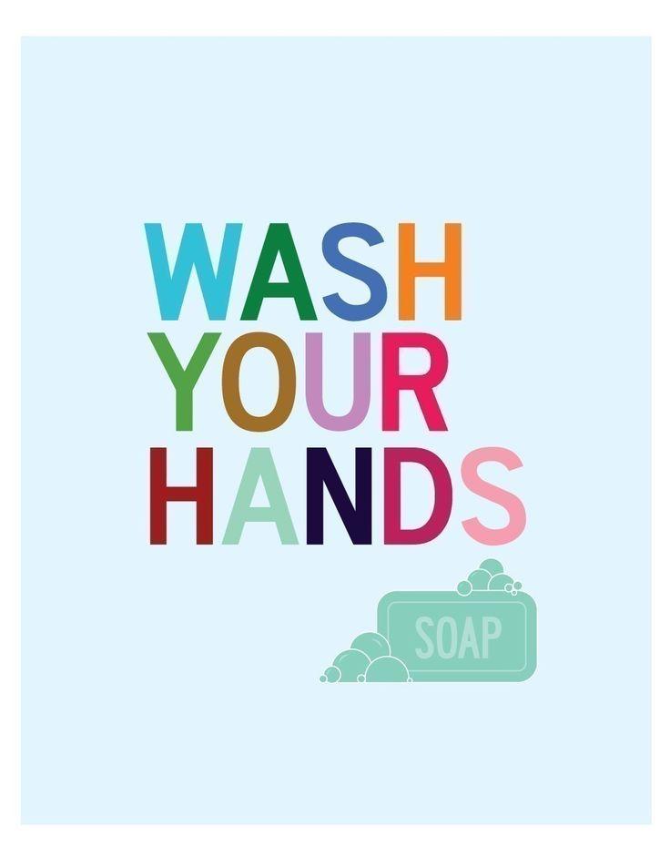 Wash Your Hands - 8 x 10 bathroom art print. $18.00, via Etsy.
