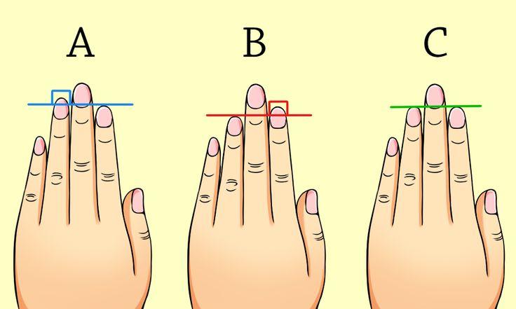 ①指の長さ