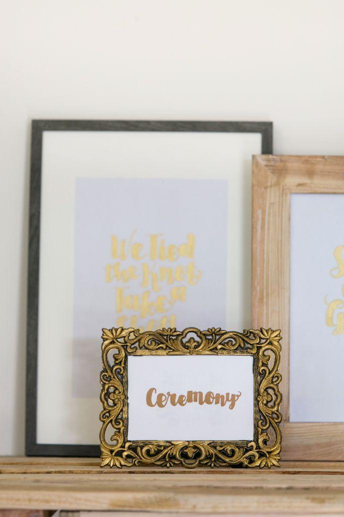 DIY Metallic Wedding Sign