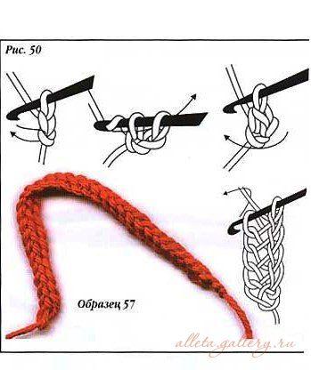 Crochet techniques.
