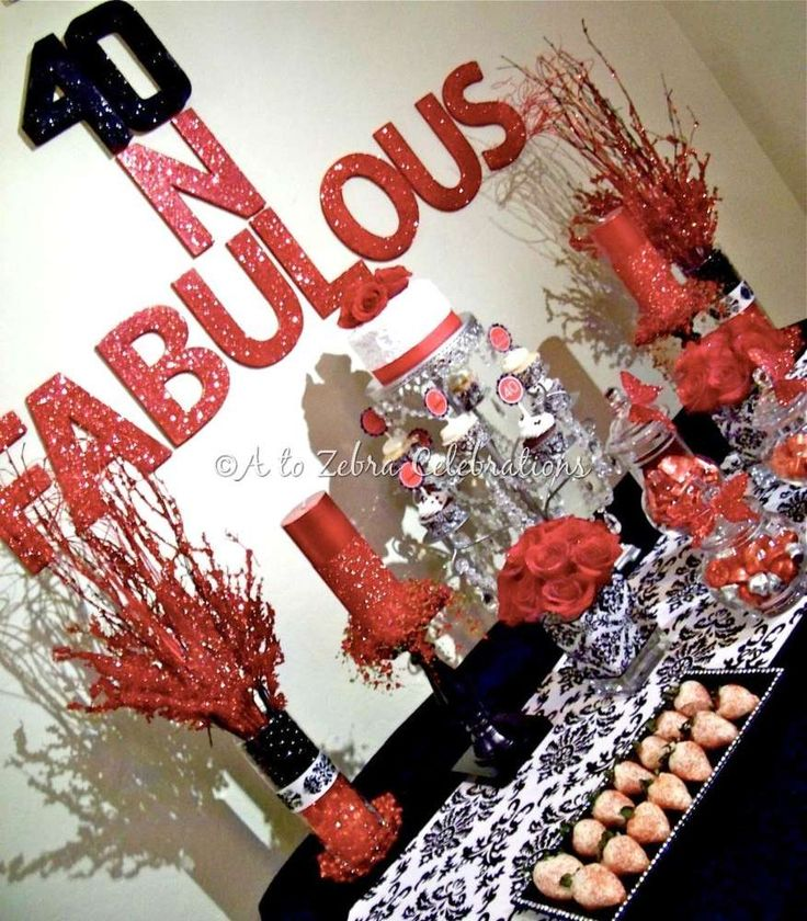 101 Best 40th Birthday Party Images On Pinterest