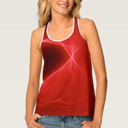Red Streaks of Light Tank Top - light gifts template style unique special diy