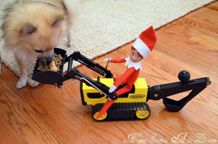 Christmas - elf on the shelf ideas: Rai Kids, Christmas Elf, Toys Trucks, Cat Food, Elf On Shelf, Shelf Ideas, Elf On The Shelf, Elves, Dogs Food