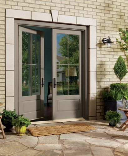 59 best images about french doors on pinterest steel for Exterior french patio doors