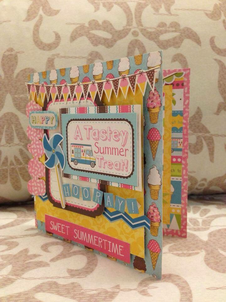 Summer theme greeting cards. Super fun! #handmadegift #scrapbook #greetingcards #papercraft #giftideas