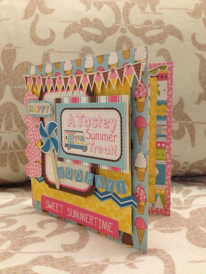 Summer theme greeting cards. Super fun! #handmadegift #scrapbook #greetingcards #papercraft #giftideas