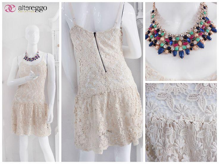 #moda #fashion #otoño #invierno #2014 #nueva #temporada #nueva #coleccion #NewCollection #moda #para #chicas #vestido #crochet #collar #colores #bello