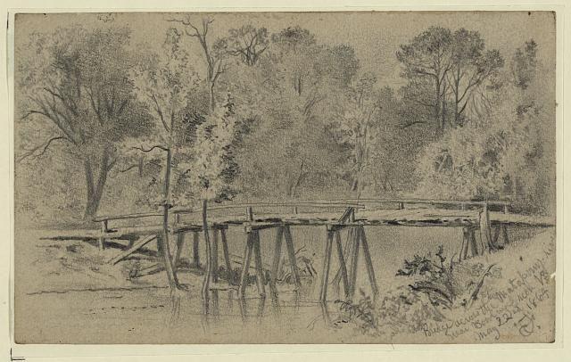 Bridge across the Matapony River near Bowling Green, Va.