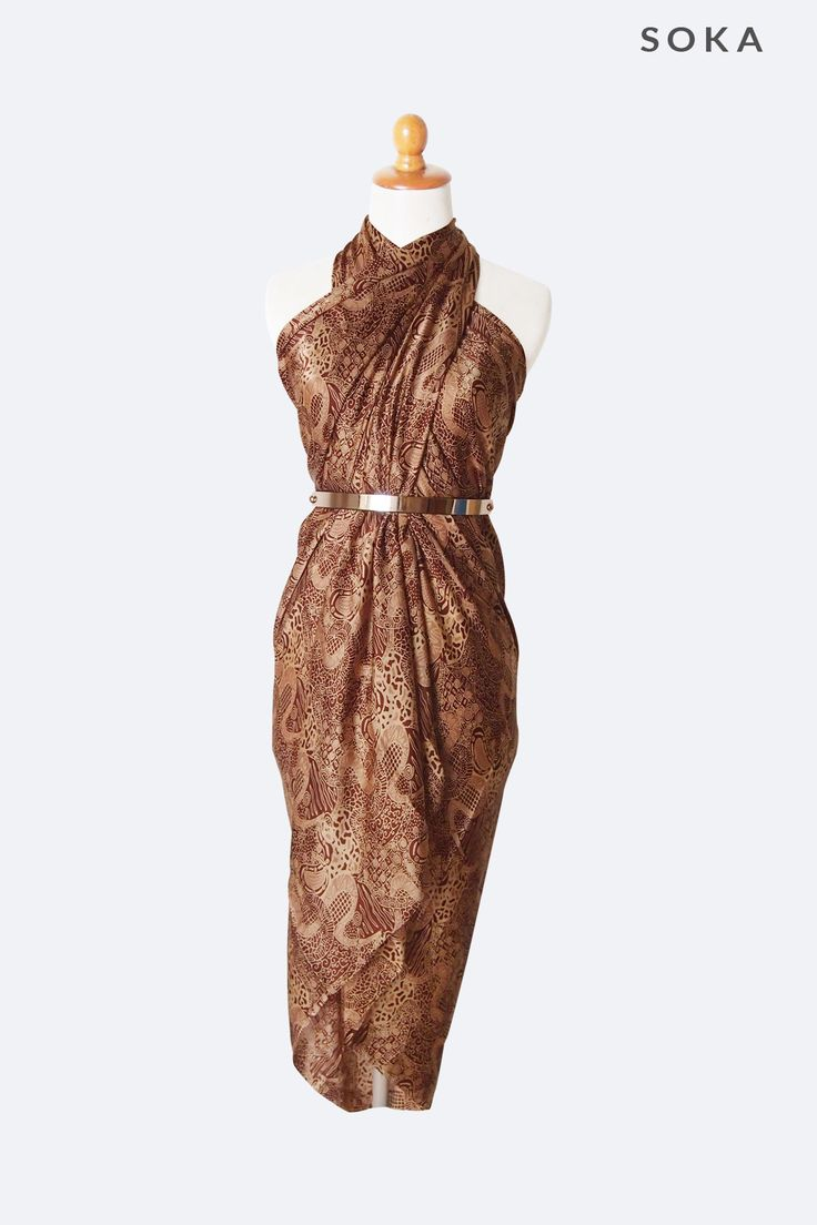 Light Brown Batik Sarong #womenstyle #style #fashionista #handmade #sarongs