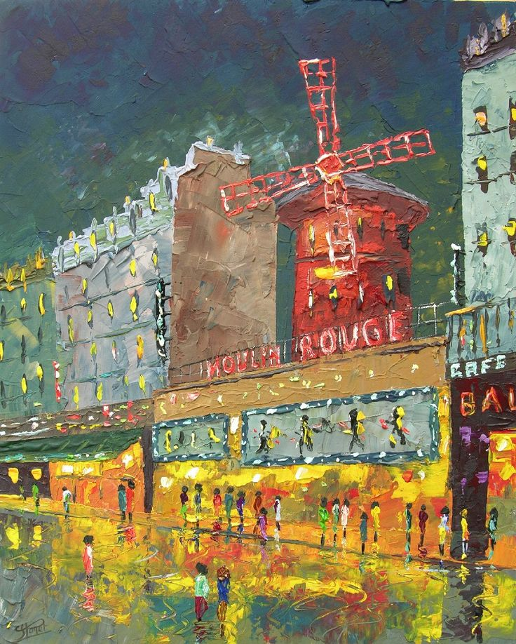 "Impressionism Paris: Painting ""Le Moulin Rouge, Paris"" By French Impressionist"