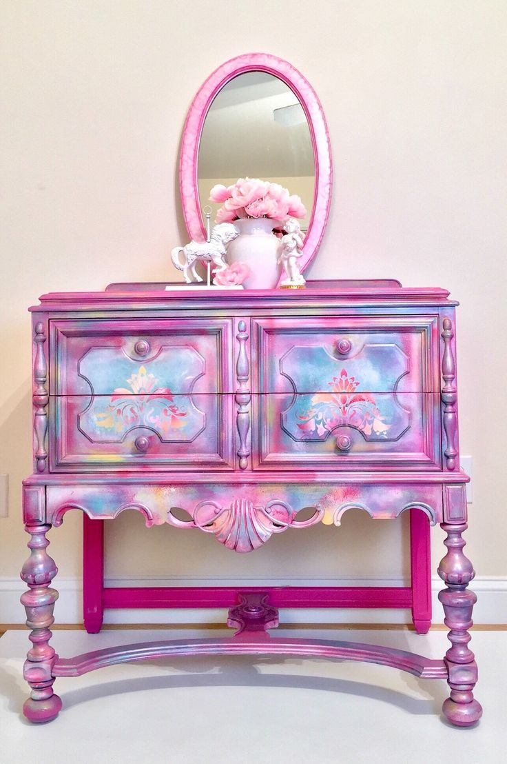 1075 Best Pink Amp Coral Painted Furniture Images On