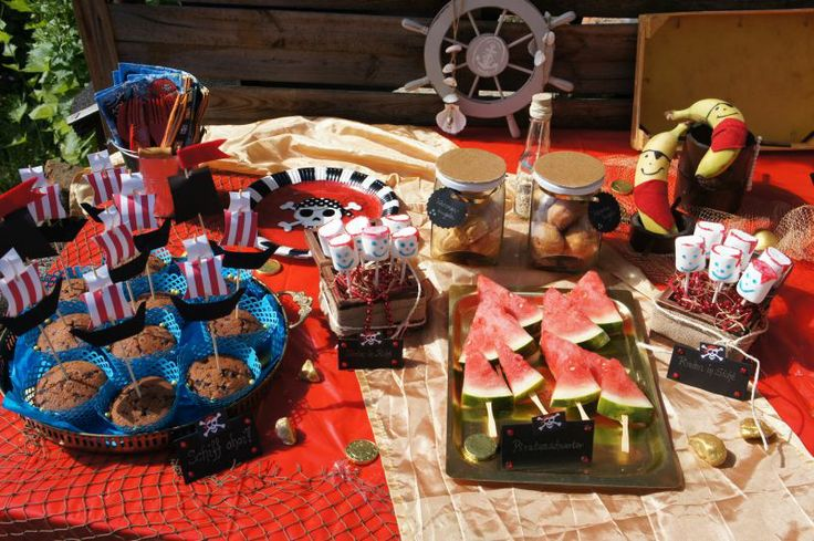 Piratenparty essen food deco dekoration pirate party for Dekoration essen