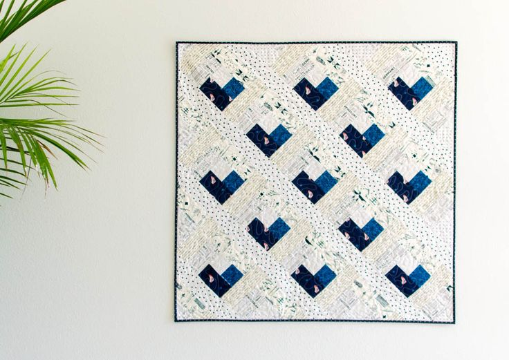 Baby Heart Log Cabin Quilt – Free Quilt Pattern ❤️