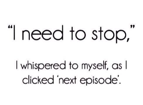 Netflix is dangerous for those of us deeply imbedded in TV series lol