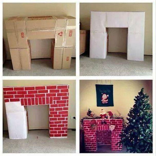 Всем привет! Предлагаю оригинальный способ украсить свой дом к Новому Году или Рождеству! В этом мастер-классе Вы узнаете, как сделать камин своими руками для ребенка Вам понадобятся коробки, скотч, малярный скотч и краски (гуашь или акрил) Вы можете собрать все коробки в форме камина, соединить между собой скотчем, оклеить бумагой и разрисовать. Или Вы можете …