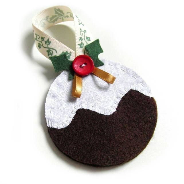 Christmas Pudding Decoration - Felt