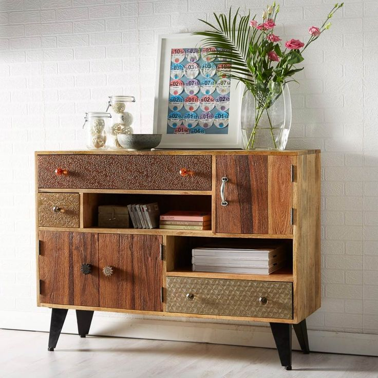 Hand crafted from reclaimed wood and metal, our Surat Small Sideboard  blends gorgeous aesthetics with superb functionality. With its unique and  distinctive ...