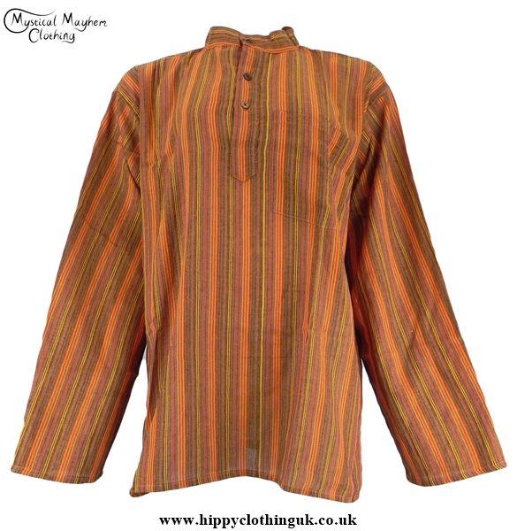 http://www.hippyclothinguk.co.uk/products-page/collarless-grandad-shirts/bares-collarless-grandad-shirt-orange-hippy-hippie-surf-festival-clothing-2/