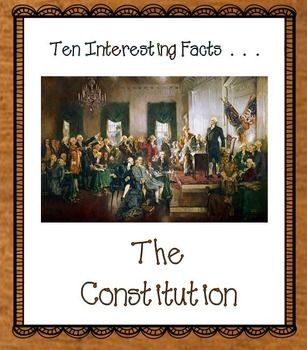 Constitution contains ten interesting facts and two foldable graphic organizers. The first foldable organizer covers the checks and balances of our government. The second graphic organizer reviews the parts of the Constitution.