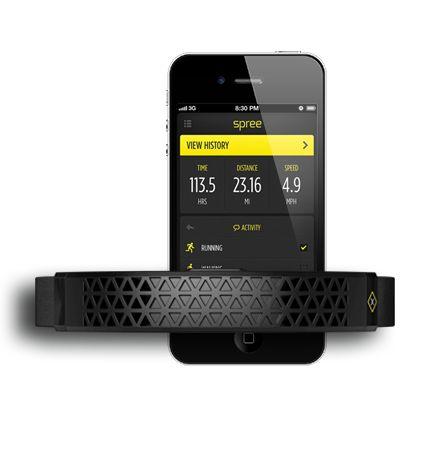Spree Biometric Headband - body temp, heart rate, & activity tracker