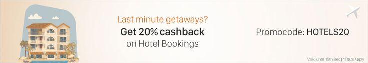 PayTM.COM: GET 20% cashback on Hotels   #Coupon: HOTELS20