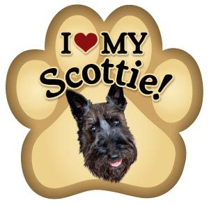 5 inch Scottie Paw Print Magnet