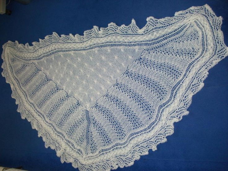 1ply lace and cable shawl - Knitting creation by mobilecrafts   Knit.Community