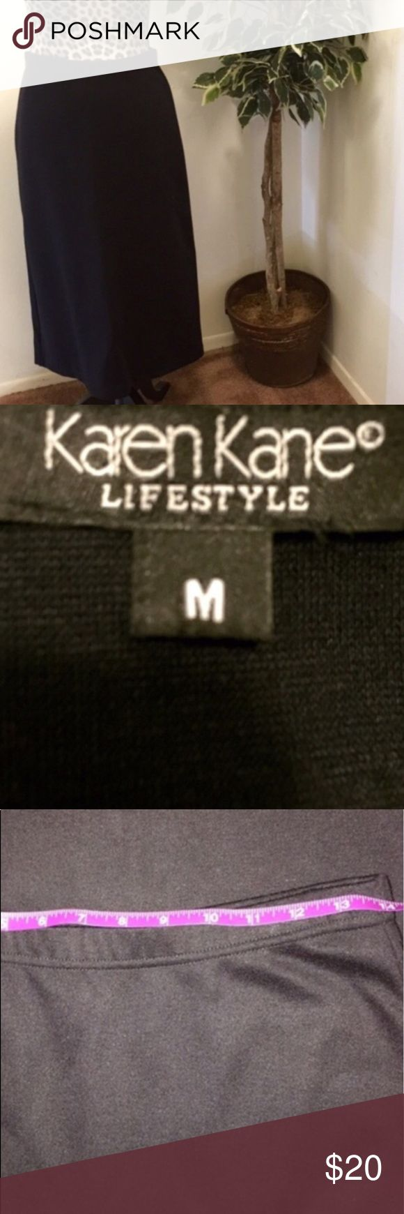 """⚡️SALE⚡️NWOT Karen Kane Lifestyle Black Long Skirt New Without Tags.. Karen Kane Skirt. Pull On And Is Stretchy. Length Is Approx 29"""". A Perfect Staple Skirt For Work Or Any Special Occasion!! Karen Kane Skirts Maxi"""