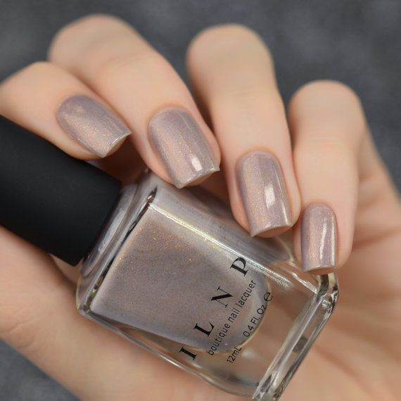 Long Walks Shimmery Taupe Holographic Nail Polish by ilnpbrand