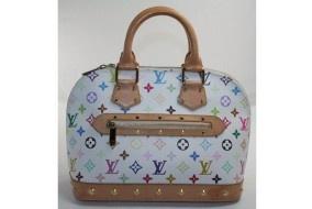 Louis Vuitton White Monogram Multicolore Canvas Alma Bag $1099 ~ this site sells preowned bags :)