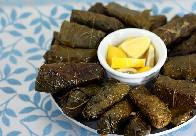 Dolmades (stuffed grape leaves) | Mediterranean Diet | Pinterest