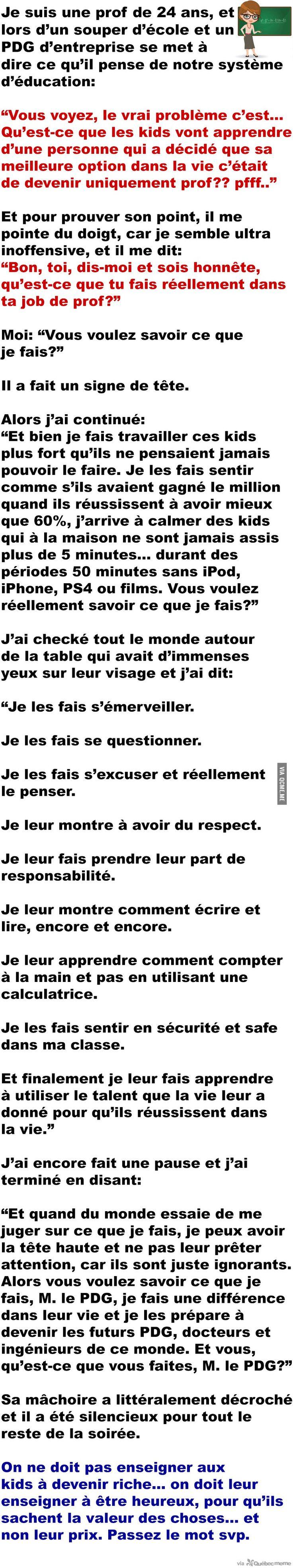 À tous les profs de ce monde… MERCI – Québec Meme +